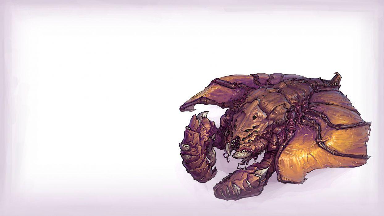 video games Zerg slave concept art artwork drone StarCraft II wallpaper
