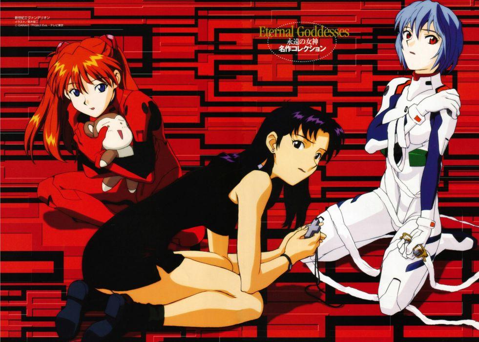 Ayanami Rei Neon Genesis Evangelion Katsuragi Misato Asuka Langley Soryu anime anime girls wallpaper