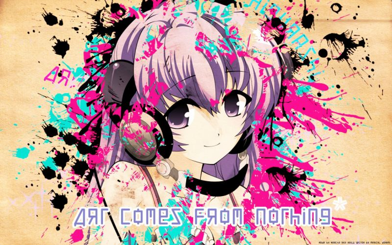 headphones Higurashi no Naku Koro ni anime girls Furude Hanyuu wallpaper