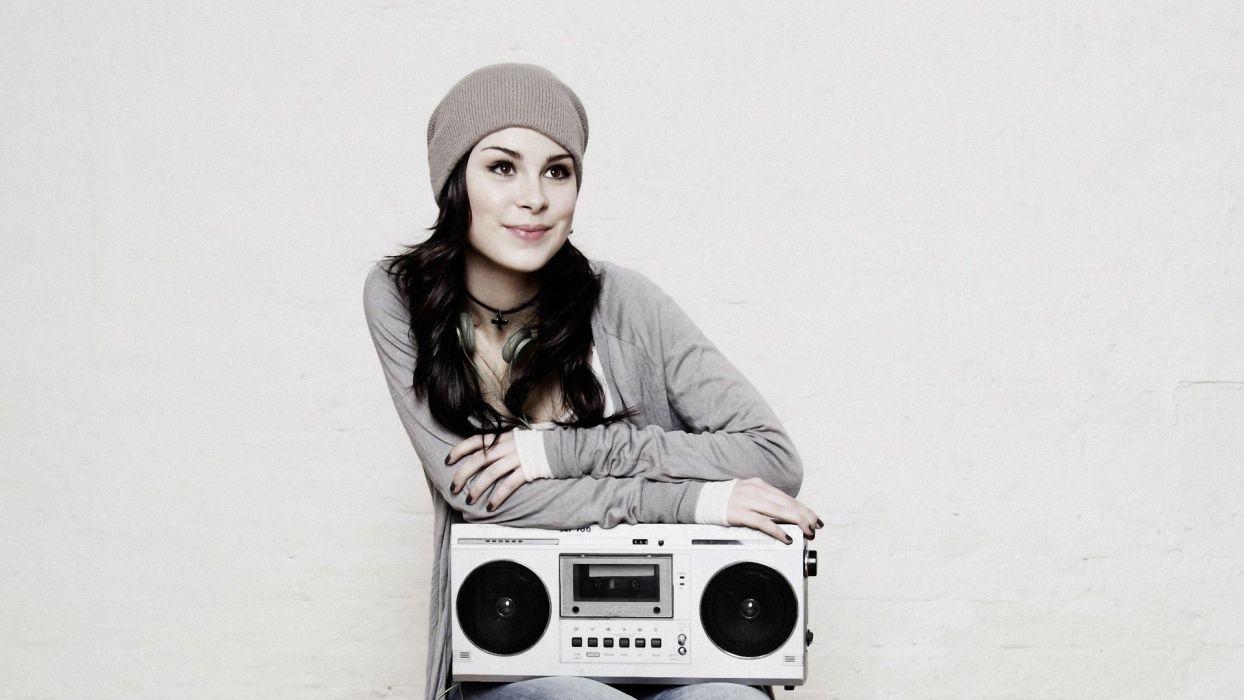 women radio singers Lena Meyer-Landrut hats black hair wallpaper