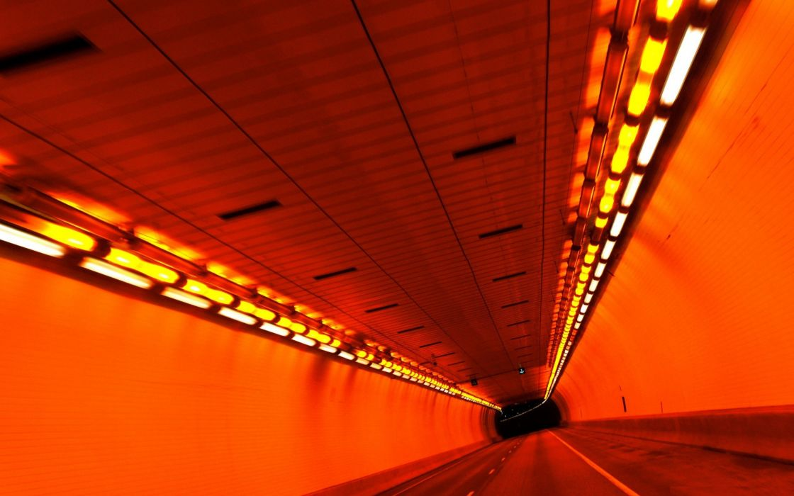 red tunnels roads wallpaper