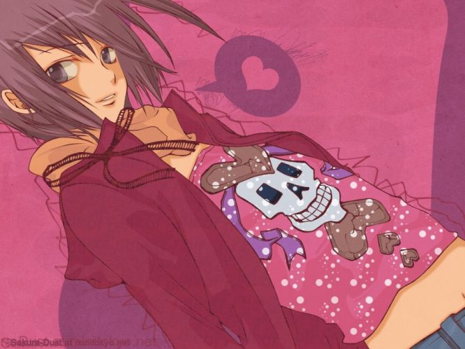 pink Loveless anime anime boys hearts Ritsuka Aoyagi wallpaper