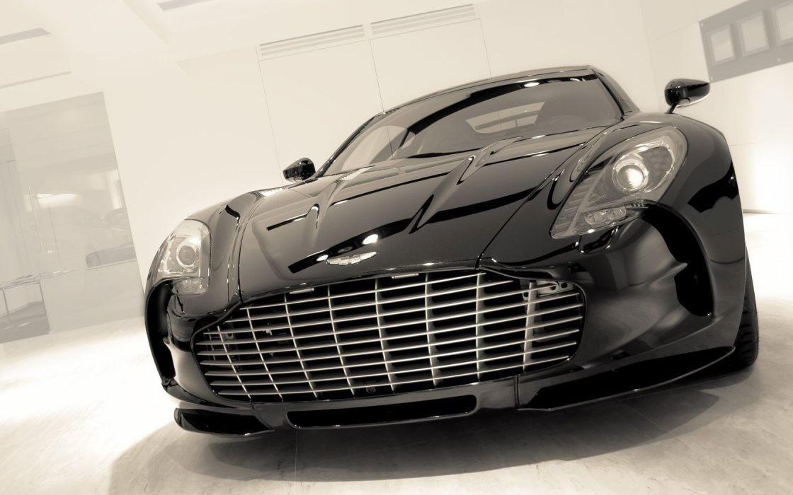 black cars Aston Martin supercars wallpaper