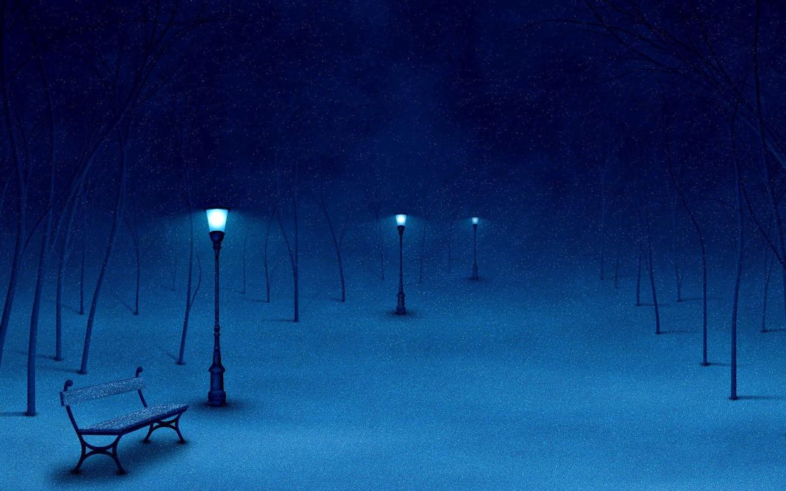 snow cityscapes paths wallpaper