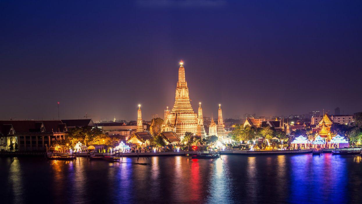 bangkok sunset Thailand wallpaper