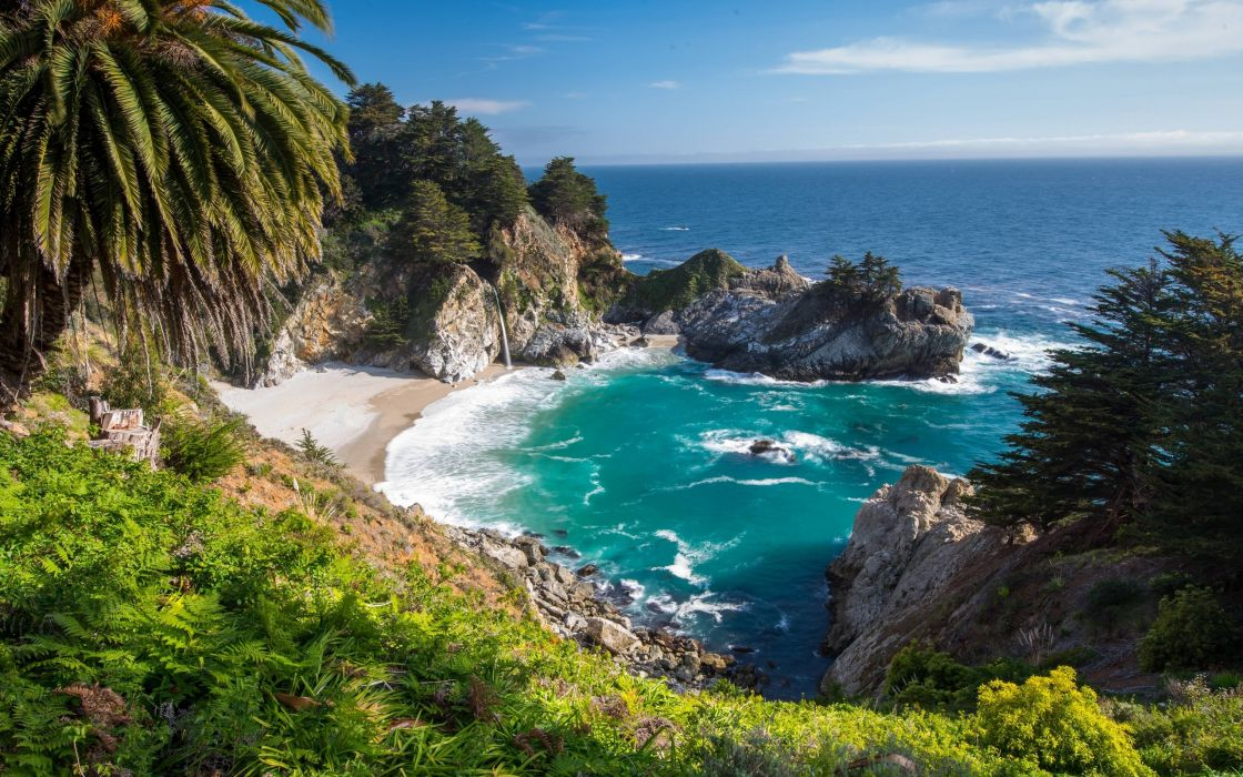 California United States Big Sur McWay Falls wallpaper