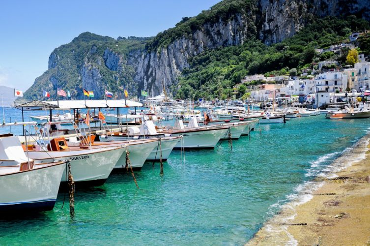 capri island italy sea wallpaper