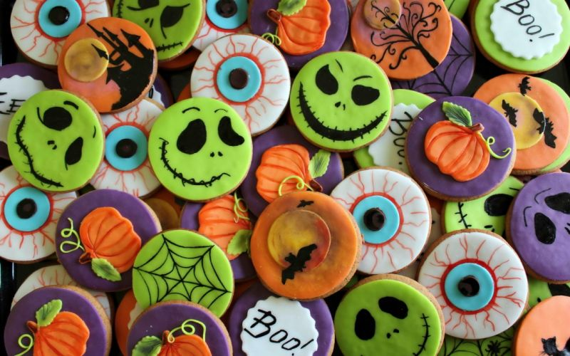 celebration halloween cookies wallpaper
