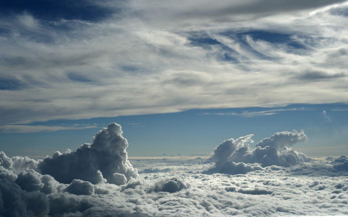 clouds sky height wallpaper