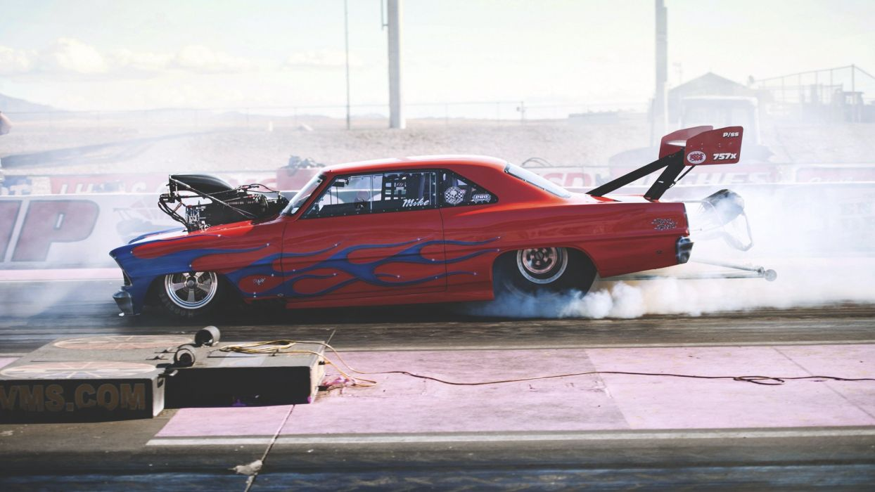 drag race smoke chevrolet hot rod rods     f wallpaper