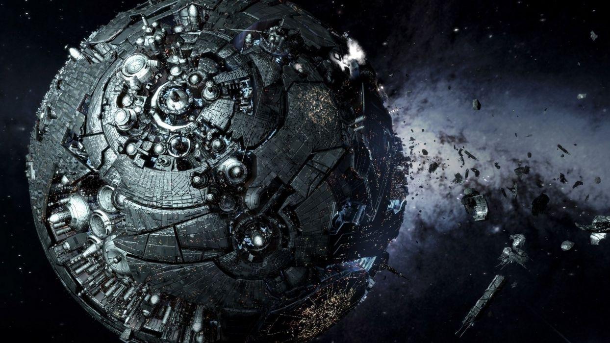 fantastic planet space spaceship star trek wallpaper