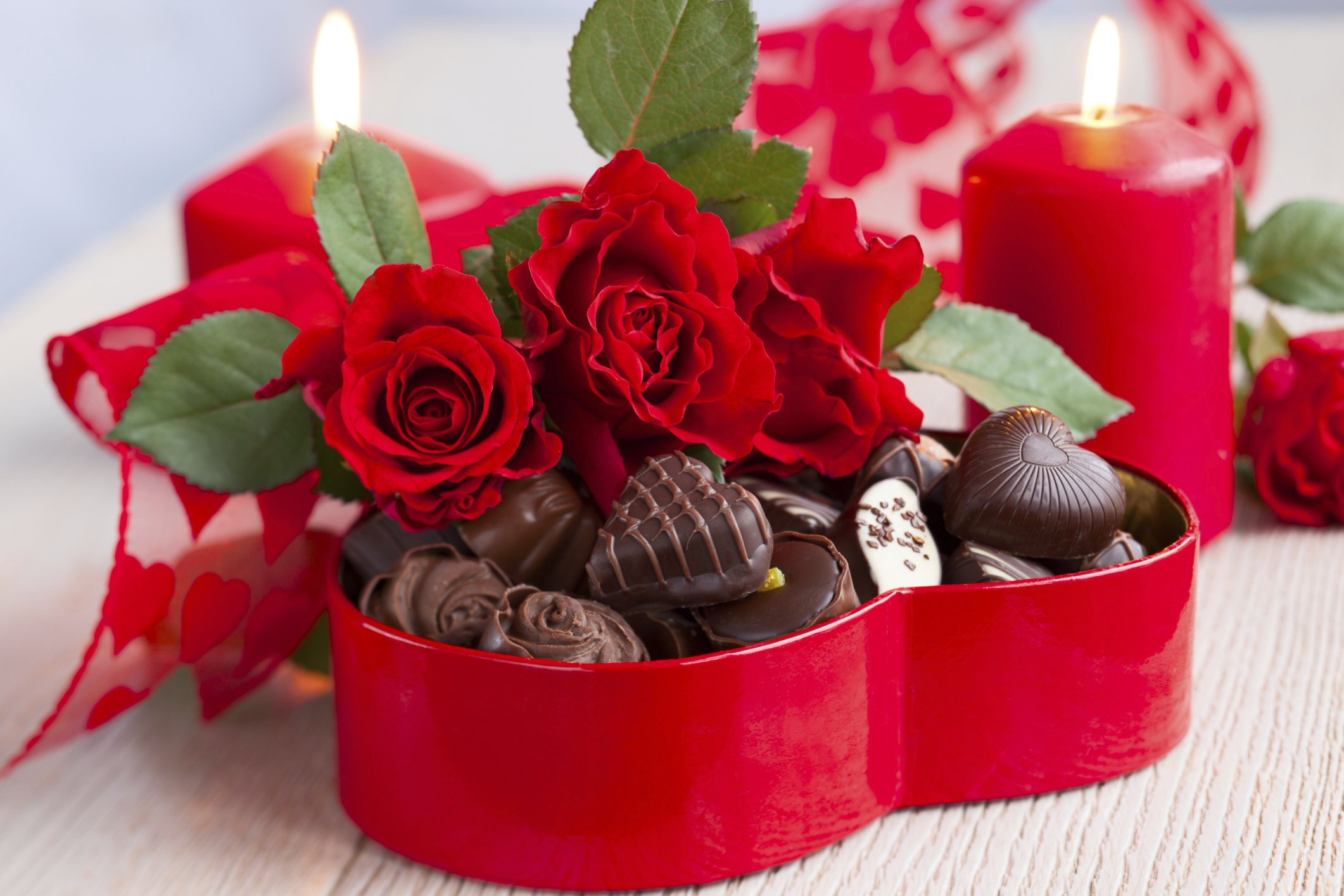 Flowers Bouquet Love February 14 Holiday Heart Candy Chocolate