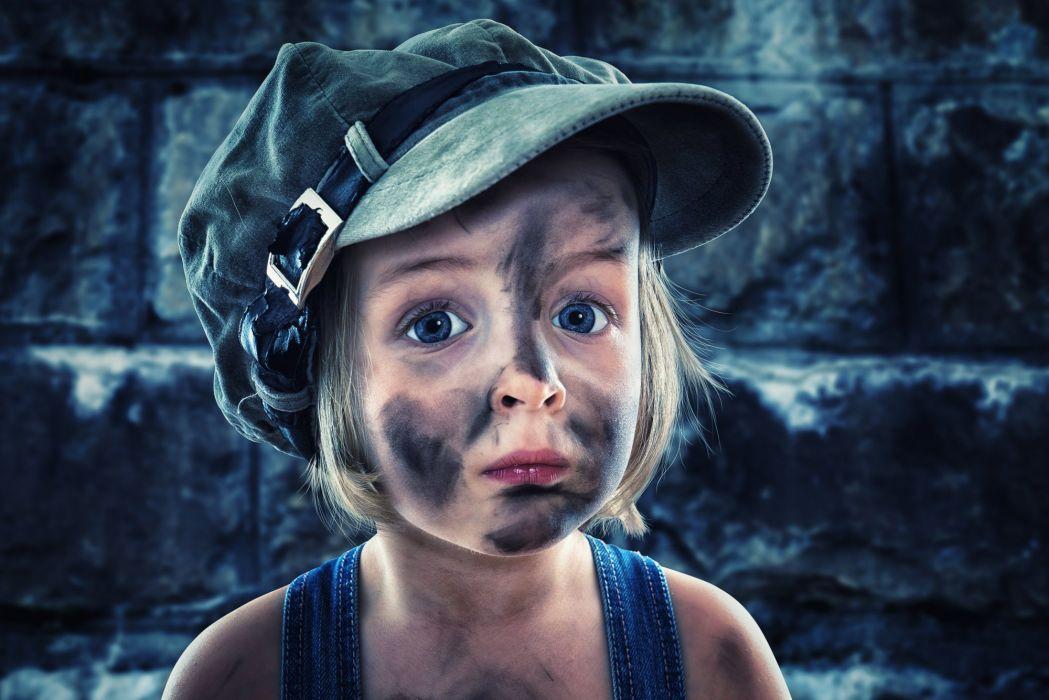 girl child person portrait cap grubby wallpaper