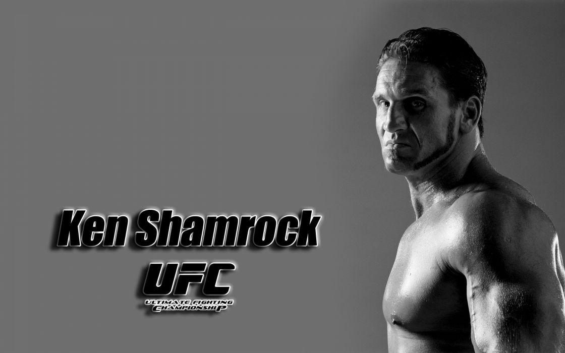 ken shamrock UFC mixed martial arts fighter mma poster wallpaper