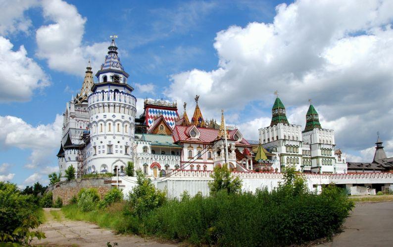 Kremlin castle city dome wall wallpaper