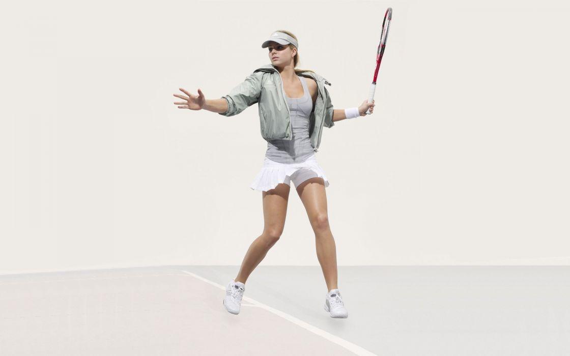 Maria Kirilenko sports tennis racquet adidas wallpaper