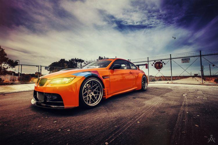 orange bmw e92 tuning wallpaper