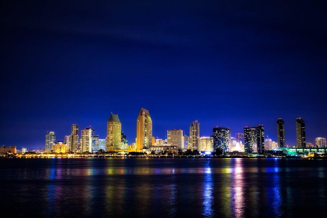 San Diego Coronado city night wallpaper