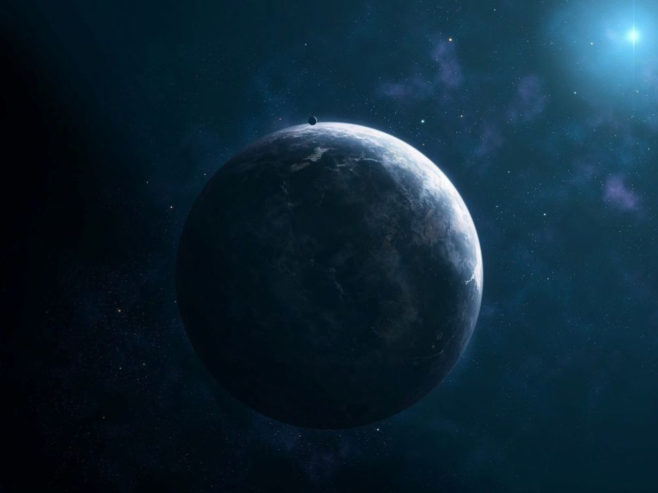 star satellite komos planet light wallpaper