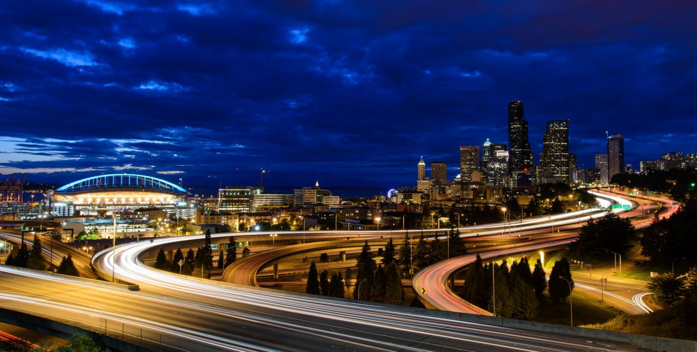 Washington Seattle sunset wallpaper