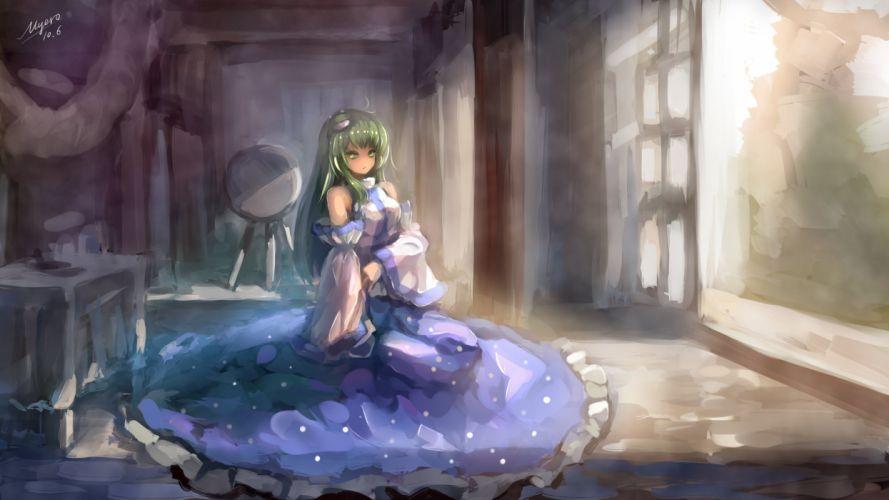 Anime Girls kochiya sanae Dress original mood wallpaper