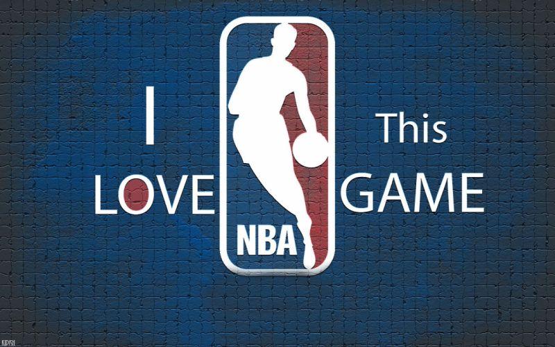 background basketball nba logo blue wallpaper