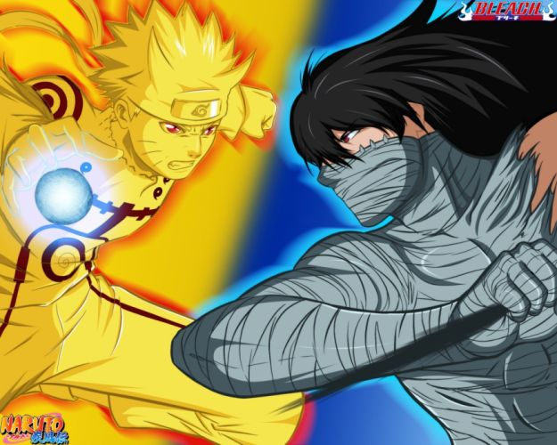 bleach naruto naruto vs ichigo crossover naruto shippuden wallpaper
