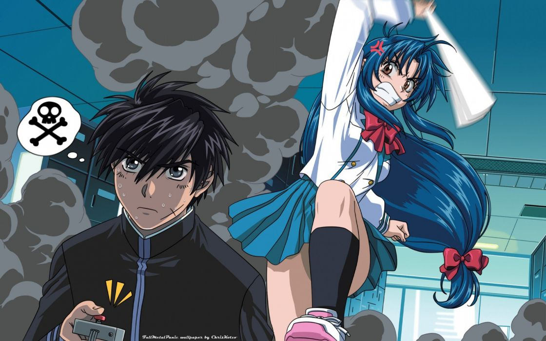 Full Metal Panic! Chidori Kaname anime Sagara Sousuke wallpaper