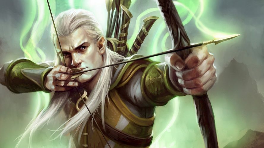 archers The Lord of the Rings elves artwork Legolas bow (weapon) Guardians of Middle-earth wallpaper