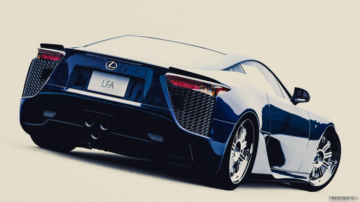 cars Lexus LFA races wallpaper