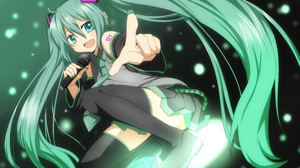 Anime girl green eyes