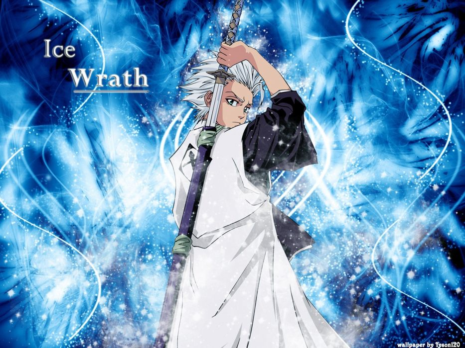 Bleach Hitsugaya Toshiro Anime Zanpakuto Wallpaper