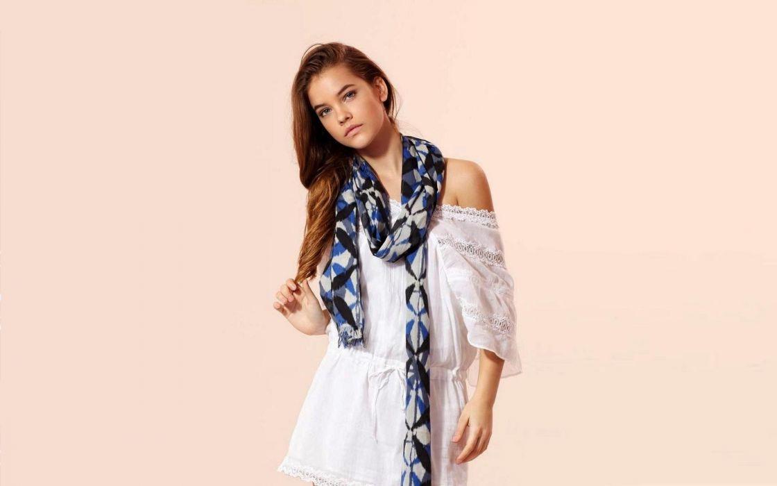 brunettes women blue eyes Hungary Barbara Palvin models wallpaper