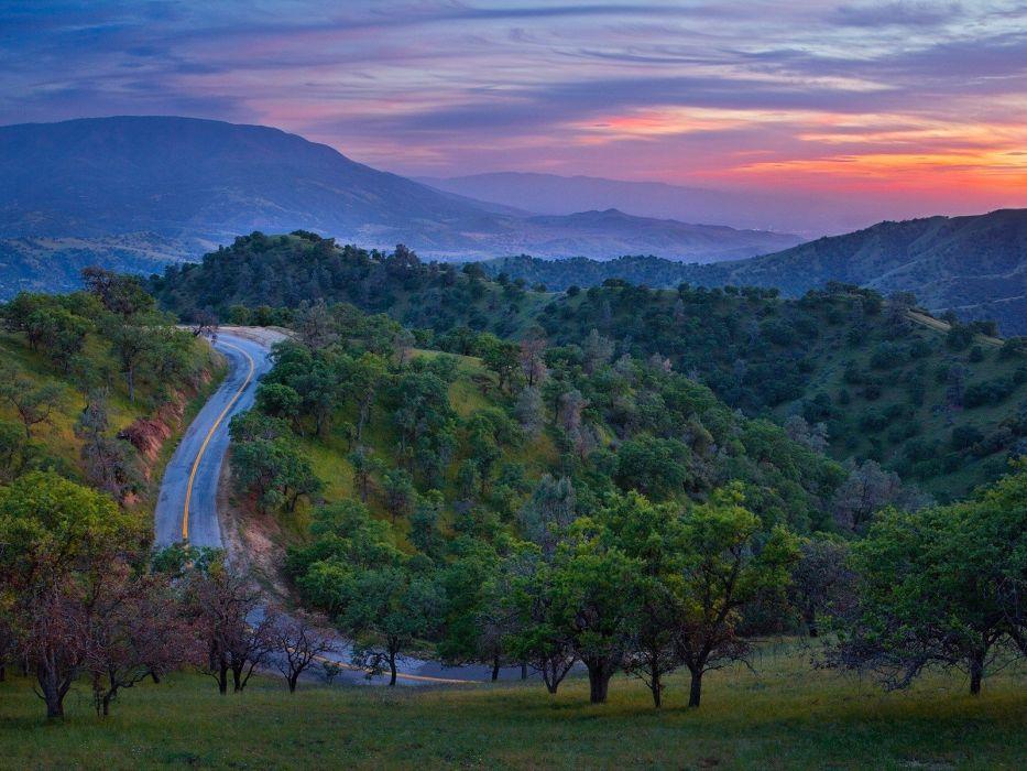 sunset California wallpaper