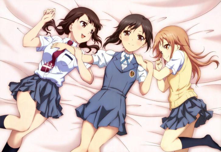 school uniforms anime anime girls Tari Tari Miyamoto Konatsu Okita Sawa Sakai Wakana wallpaper