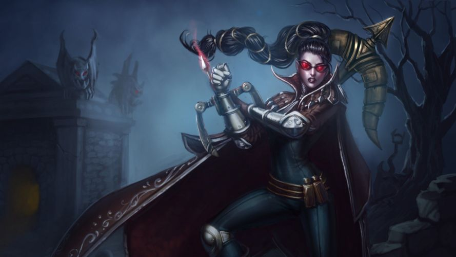 video games glasses League of Legends artwork arrows crossbows Vayne wallpaper