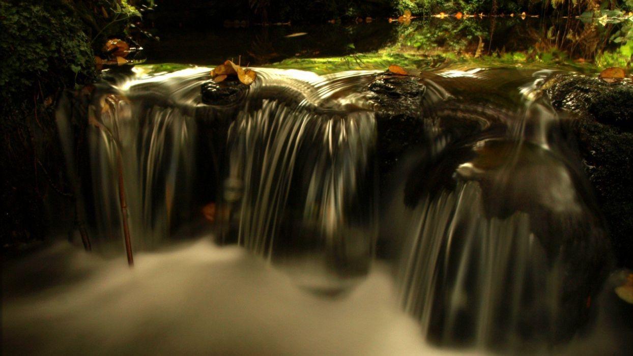 autumn waterfalls wallpaper