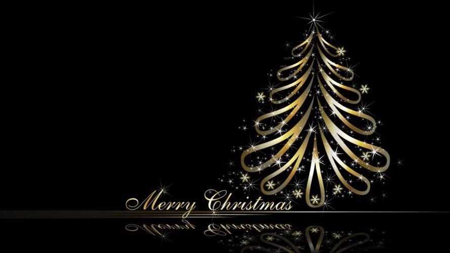 golden illustrations Christmas Christmas trees reflections vector art wallpaper