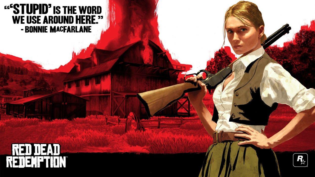 video games Red Dead Redemption Rockstar Games Grand Theft Auto III Bonnie (Red Dead Redemption) wallpaper
