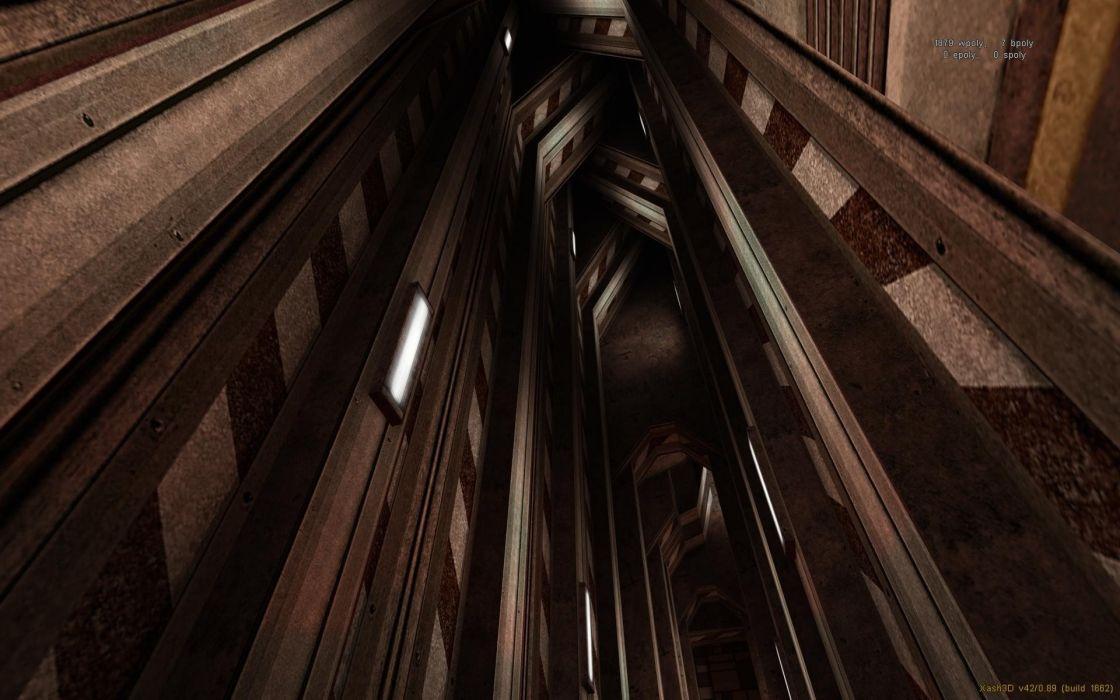 3D view CGI Half-Life level design wallpaper