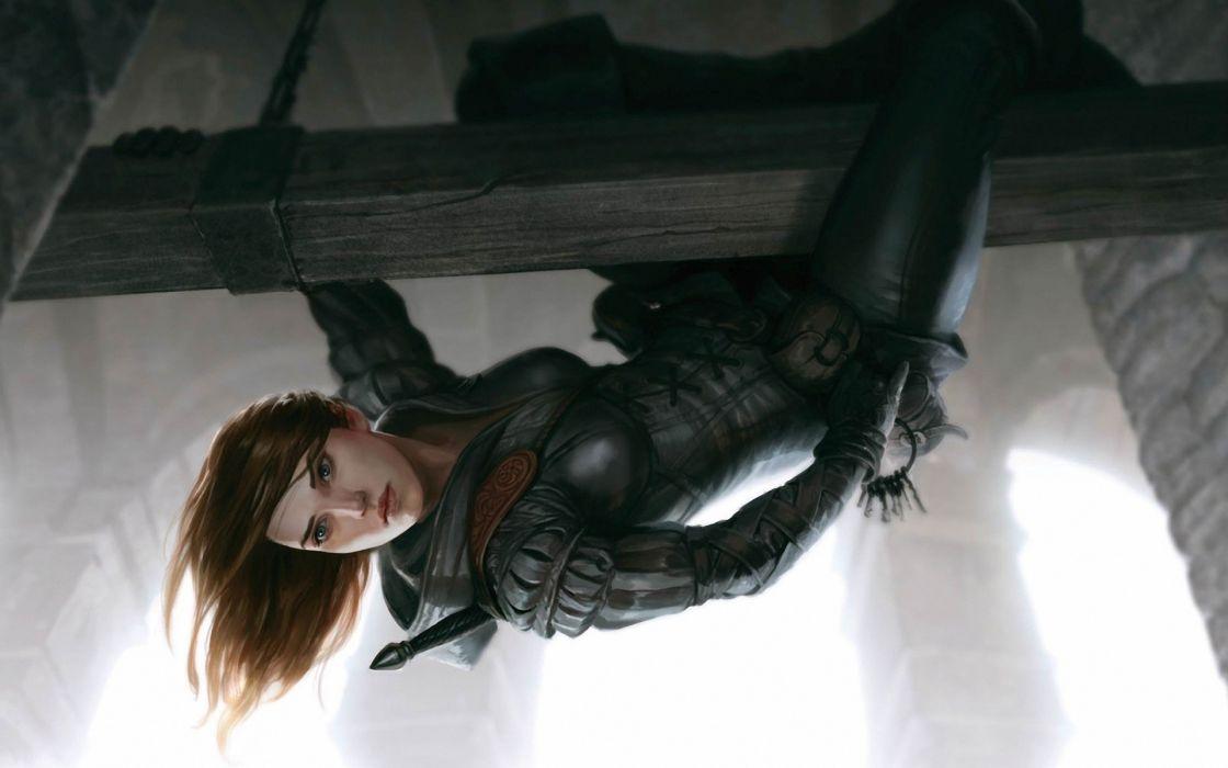 women Rogue female warriors thief Widdershins wallpaper
