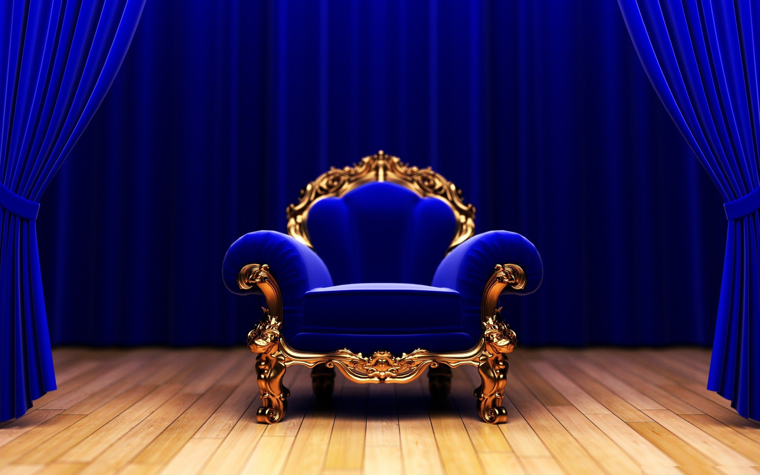 Blue Couch Studio King Armchair Wallpaper 2560x1600