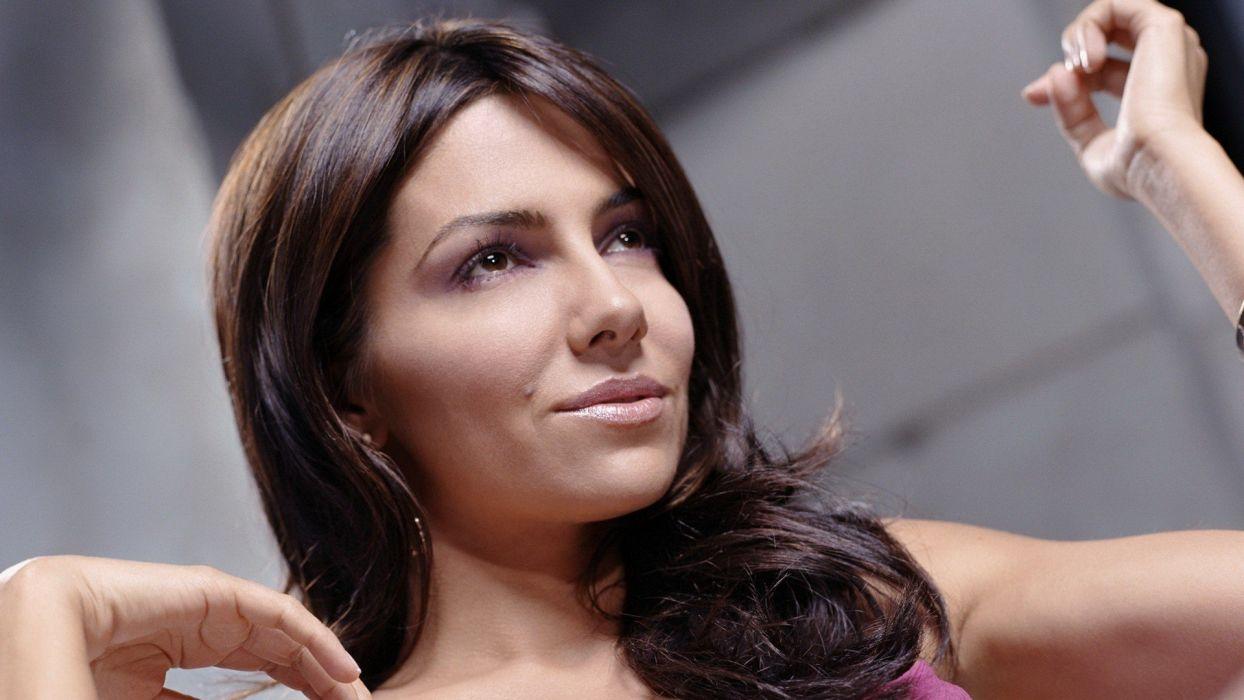 brunettes women actress models Vanessa Marcil wallpaper