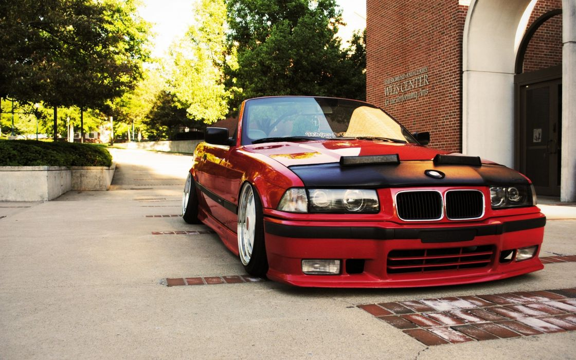 cars tuning red cars BMW 3 Series BMW E36 wallpaper