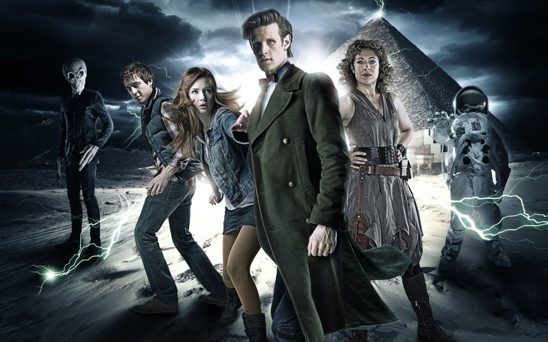 Matt Smith Karen Gillan Amy Pond Eleventh Doctor Doctor Who River Song Alex Kingston Rory Williams wallpaper