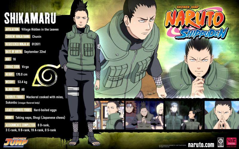 Naruto: Shippuden Shikamaru Nara wallpaper