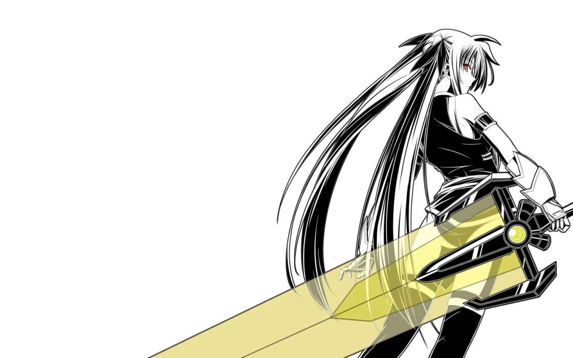 Mahou Shoujo Lyrical Nanoha Fate Testarossa anime girls wallpaper