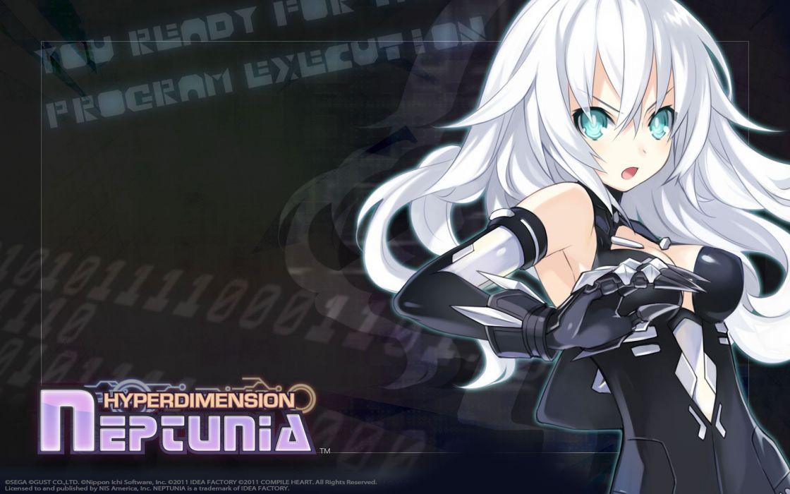 video games white hair anime girls Hyperdimension Neptunia  White Heart wallpaper