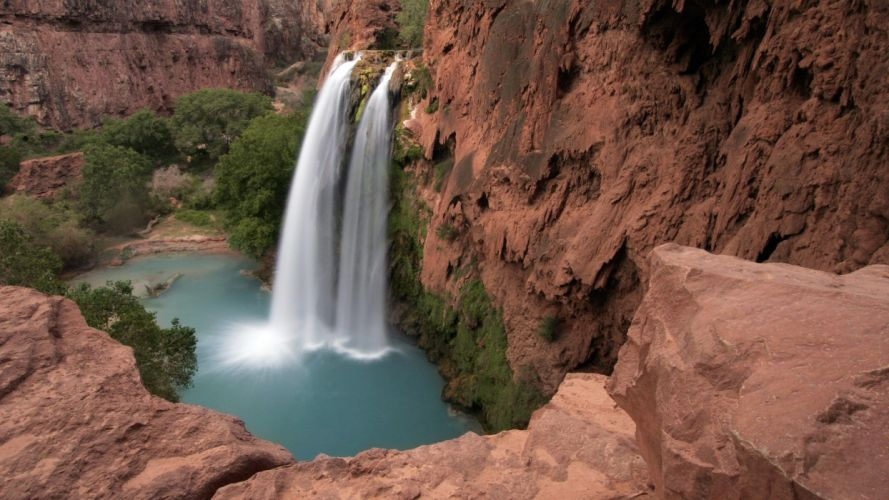 Grand Canyon waterfalls wallpaper