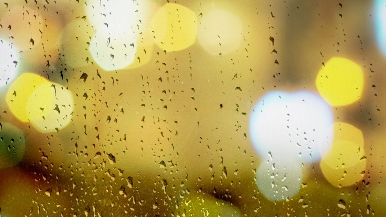 close-up lights bokeh water drops macro wallpaper